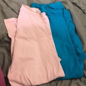 Two plain t shirts